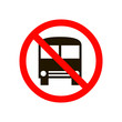 Forbidden parking icon. No bus stop vector sign. Prohibited bus parking vector icon. Warning, caution, attention, restriction.