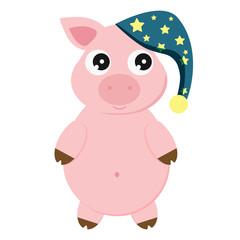 Pig art illustration