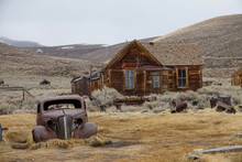 Rusty Car Slowly Decaying In The Rugged Wilderness In The Heart Of California.