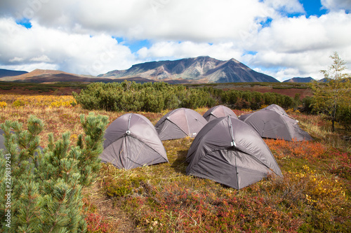 Photo  Tourist camp in the tundra