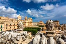 Nicholas Cathedral Of Noto, Sicily, Italy.