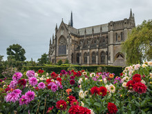 Arundel Cathedral As Seen From Arundel Castle Gardens