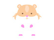 Hamster. White hamster with brown spots on a white background. Flat vector illustration.