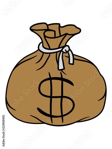 Dollar Symbol Zeichen Geld Reich Geldsack Reichtum Schatz Beute