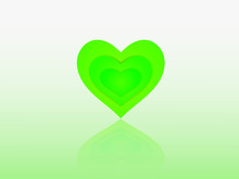 A Green Heart Shape Design Wit...