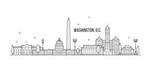 Washington D. C. Skyline USA C...