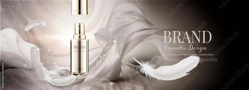 Fototapeta Skin care spray bottle ads