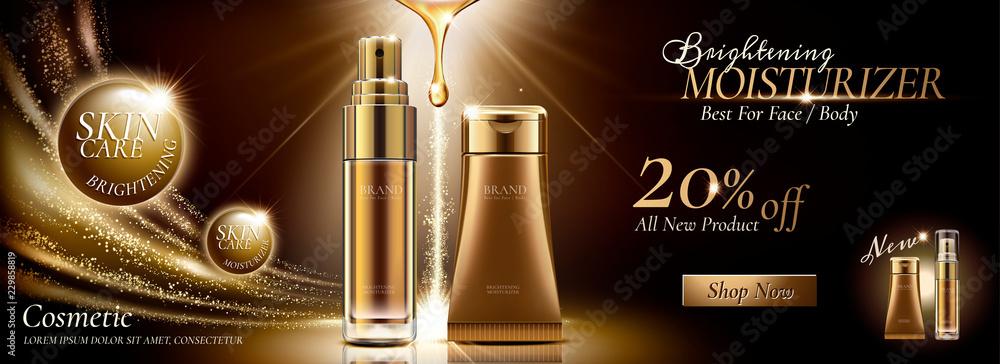Fototapety, obrazy: Skincare banner ads