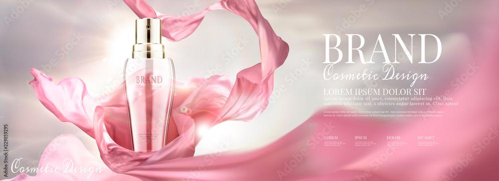 Fototapety, obrazy: Skin care spray bottle ads