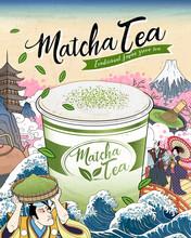 Ukiyo-e Matcha Tea Ads