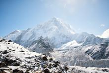 Lhotse Mountain In The Himalayas
