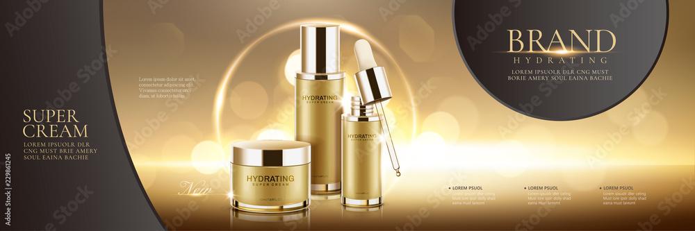 Fototapety, obrazy: Cosmetic set ads