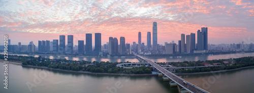 Fotografie, Obraz  changsha skyline panorama in sunrise