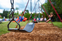 Closeup Picture Of A Swing In ...
