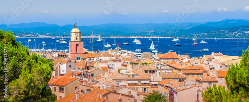Panoramic view of Saint Tropez, France Canvas-taulu