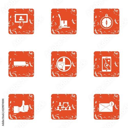Successful job icons set Tableau sur Toile