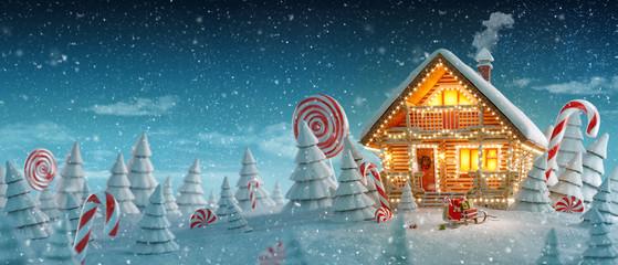 Amazing Decorated log house