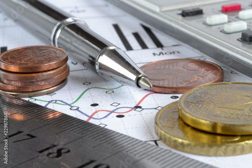 Fotografía  Financial background