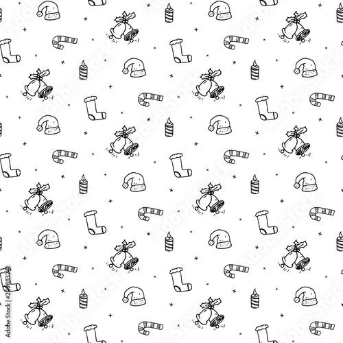 f3ddb256f8b Seamless pattern hand drawn christmas hat