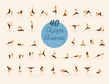 40 Yoga Asanas With Names