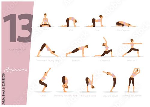 Fotografia 13 Yoga poses for beginners