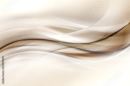 Foto auf AluDibond Fractal Wellen Abstract brown stylish stationery trendy background with blur gradients and vibrant colors.
