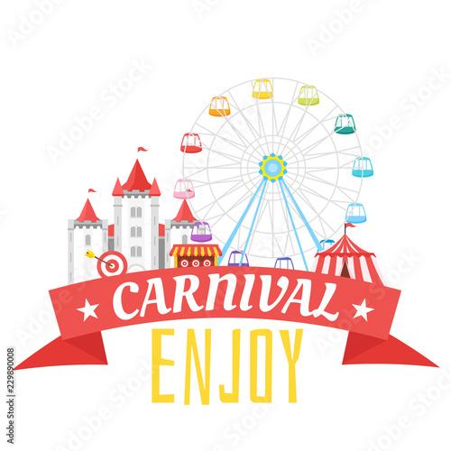 Tablou Canvas amusement park carnival for kids