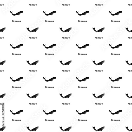Mosasaurus pattern seamless vector repeat geometric for any web design фототапет