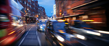 Blurred Motion Of Cars. London