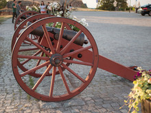An Ancient Cannon In Front Of ...