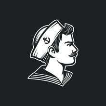 Vintage Sailor. Retro Seaman