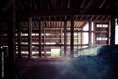 Foto op Canvas Industrial geb. industriel,usine,ancienne,métallique,ferraille,poutrelles,patrimoine