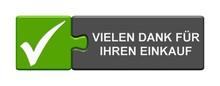 Puzzle Button Zeigt Vielen Dank Für Ihren Einkauf