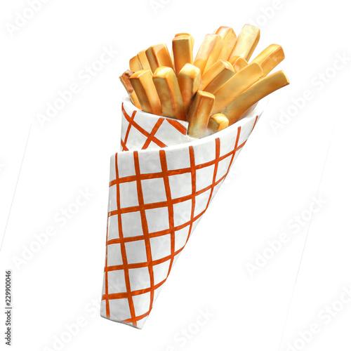Fotografía Cornet de frites (factice) / French fries box