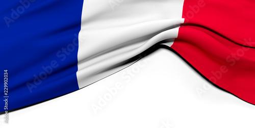 Fototapeta Drapeau Français plissé obraz