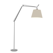 On White Background Floor Lamp