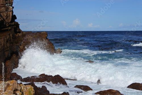 Fotografie, Obraz  Brandung des Atlantik am Kap der Guten Hoffnung in Südafrika