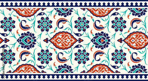 Photo Traditional Turkish Floral Border
