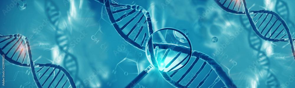 Fototapeta Concept of biochemistry with dna molecule
