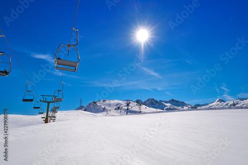 Fotografie, Obraz  Baqueira Beret in Lerida Catalonia ski spot resort in Aran Valley