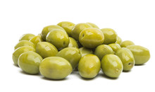 Large Green Olives Isolated