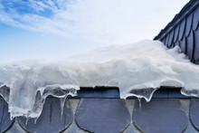 Iced Roof Closeup Detail Backg...
