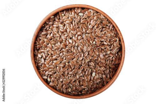 Obraz flax seeds in a plate - fototapety do salonu