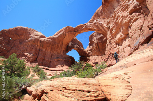 In de dag Verenigde Staten Arches National Park - Double Arch (Utah - USA)
