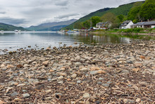 View At Loch Tay From Pebble Beach Near Village Kenmore In Scotland