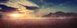 Leinwandbild Motiv Mountains at surise Egypt