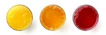 Glass Of Fresh Orange Apple An...