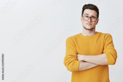 Valokuva  Displeased guy waiting for explanations