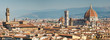 Panoramic view of the Duomo in the beautiful city of Florence in Tuscany, Italy