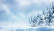 canvas print picture - romantischer winterwald